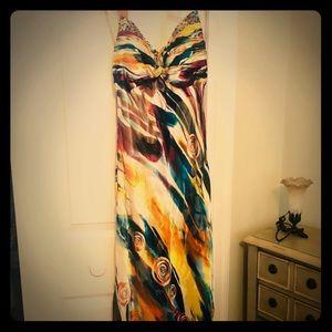 Arden B formal floor length halter dress